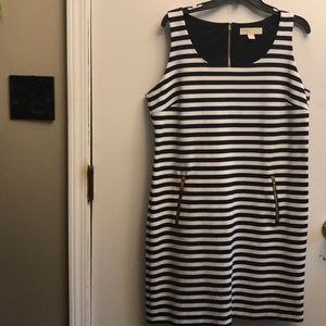 Michael Kors Dresses - Michael Kors Striped Tank Dress NWOT